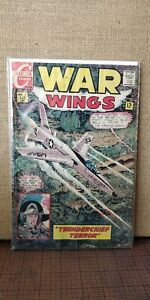 WAR WINGS #1 - Charlton war 1968, great jet plane cover - Bagged and Boarded
