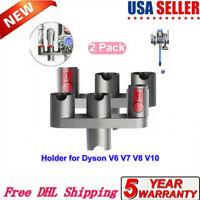 2pc For Dyson V7 V8 V10 Wall Mount Accessory Tool Attachment Storage Rack Holder
