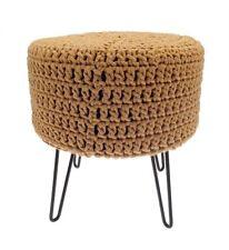 Large 100/% coton grosses mailles rondes Pouffe Repose-pieds Ottoman 50 Cm Siège repos