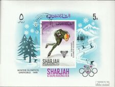 Sharjah block31 fine used / cancelled 1968 Olympics Winter Games ´68