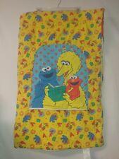vtg Sesame Street toddler kids sleeping bag Elmo Cookie Monster Big Bird pocket