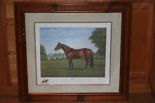 """RICHARD STONE REEVES """"CITATION"""" FRAMED RACE HORSE PRINT LIMITED EDITION #202/600"""