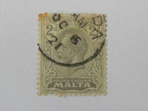 MALTA - EXTREMELY LATE USE MISIDA (MSIDA) VILLAGE POSTMARK, 6th OCTOBER 1921