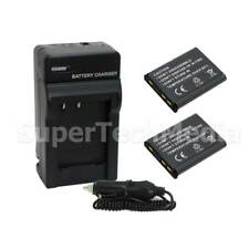 2 Battery + Charger Combo Kit For Nikon EN-EL10 COOLPIX S5100