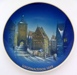 Rosenthal Weihnachtsteller 1969 Weihnachten in Rothenburg Entwurf: Georg Küspert