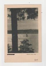 "Riga,Latvia,""Meness starus Sitgo"",Lake at Night,Used,2 Russian Stamps,Riga,1945"