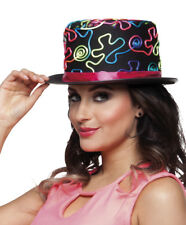 FUN NEON DECORATED CARNIVAL PARTY NOVELTY TOP HAT