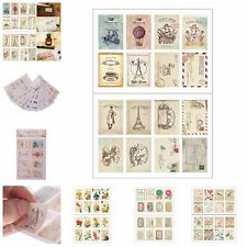 2Pcs Vintage Tower Flower Note Paper Stamps Stickers Decoration Scrapbook RS