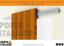 Binario Divina Scorrevole alluminio per porta in legno da kg. 80
