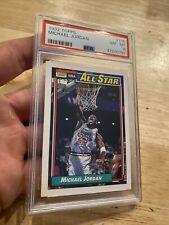 Michael Jordan PSA 8 Topps Collector Card All Star Chicago Bulls Man Cave 1992