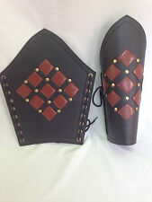 Greaves Swordsman Ancient Armour Armor Leather Leg Guard Medieval Roman  Pair
