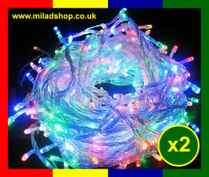 2 X EID MILAD LIGHT (100 LED LIGHT INDOOR WALL OR WINDOW DECORATION) ISLAMIC NEW