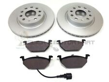 VW CADDY 2.0 SDi 1.9 TDi 2004-2011 FRONT 2 BRAKE DISCS AND PADS CHECK SIZE