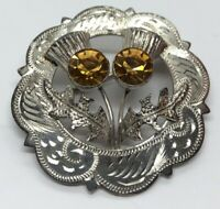 Vintage Sterling Silver Brooch Pin 925 Scottish Thistle WBS Hallmarked