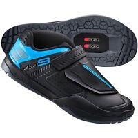 Shimano AM9 Mountain Bike MTB Cycling SPD Shoes - Black / Blue