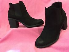 """Black Water-Repellant Chelsea-Style Ankle Boots """"ADALIA"""" by Merona 11M    NEW"""