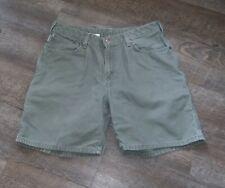 CARHARTT women's 8 shorts Carpenter Painters heavier duck VGUC Olive green
