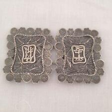Antiguo chino de exportación de enfermera de Plata Hebilla por Kwan Wo, la dinastía Qing - 1880