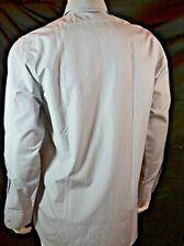 NEU !  GUCCI Designer Herren Hemd chemise shirt grau weiss neu 39 S NEW cotton