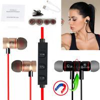 Bluetooth V4.1 Wireless Magnetic In-Ear Stereo Sports Headphone Earphone HOT Lot