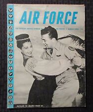 1946 AIR FORCE Magazine March/April VG- 3.5 Official Service Journal