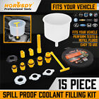 Spill Proof Radiator Coolant Filling Funnel Kit Car Auto Fluid Cooling System