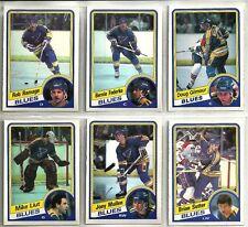 1984-85 O-Pee-Chee Hockey 13-card St Louis Blues Team Set   Doug Gilmore RC