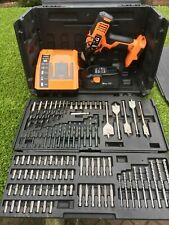 AEG BSB18G 18V Cordless Hammer Drill with accessories Carry Case 1 X BATTERIES,