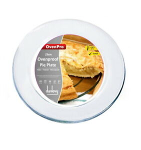 Ovenproof Glass Plate Pie Plate 25cm Tart Flan Plate Baking Dish Clear Dish