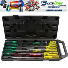 Stanley Screwdriver Set 14pc Philips Slotted Mechanics Kit with Case