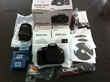 Canon EOS 600D EF-S 18-55 IS II Kit, 18.0 MP SLR-Digitalkamera Neu in OVP