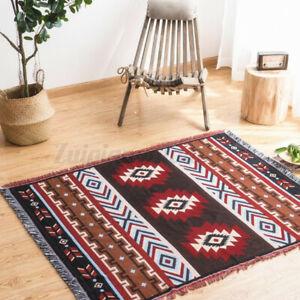 130 x 160cm Tribal Ethnic Geometric Aztec Navajo Towel Blanket Throw Rugs Mat