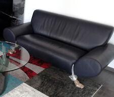 Rolf Benz Designer Leder Couch Sofa, dunkelblau - fast schwarz - TOP ZUSTAND