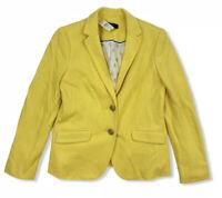 NWT Talbots Petites Yellow Blazer Jacket Outerwear Size 2P Cotton $159