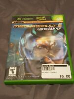 MechAssault 2: Lone Wolf w/ Manual for the Original Xbox ~ NEAR MINT DISC