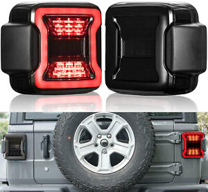 Smoked LED Tail Lights for Jeep Wrangler JL 2018 2019 2020 Sport Rubicon Sahara