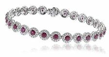 Vintage 18ct White Gold Ruby & Diamond Bracelet 8.15CTS (Ruby 5.56CTS)