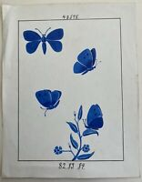 Jugendstil Entwurf Skizze Studie 82.83.84 Art-Nouveau Schmetterlinge