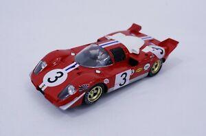 FLY Ferrari Berlinetta 512S  #3 Brands Hatch 1970 livery; 1/32 Slot Car Red