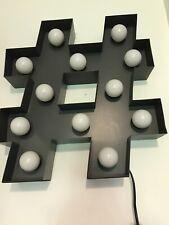 Modern Next Hastag Wall Light Decor