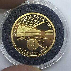 Paraguay 1500 guaranies Gold Proof 2004 FIFA Football Soccer World Cup Germany
