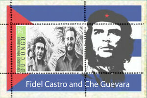 Fidel Castro and Che Guevara  over  - 8 SHEETS private issue LIMITED EDITION!!!