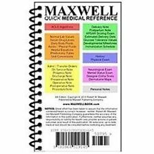 Maxwell Quick Medical Reference BRAND NEW ISBN 10: 0964519143