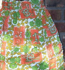 VINTAGE APRON New England - Early American Pattern Anchor Bell Clock Cannon Drum