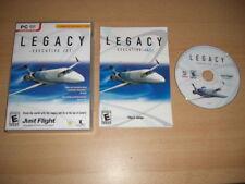 LEGACY - EXECUTIVE JET Pc DVD Rom Add-On Flight Simulator X & 2004 FS2004 FSX