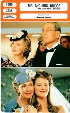 FICHE CINEMA : MR AND MRS BRIDGE - Newman,Woodward,Ivory 1990