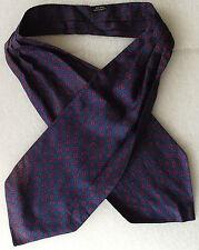 Mens silk cravat Blue Paisley pattern vintage day cravat FADED but still lovely
