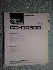Pioneer Cd-Dr500 service manual original repair book car stereo line amp 6 pages