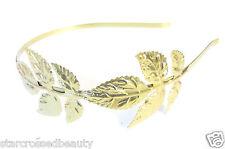 Gold Great Gatsby Flapper Leaf Headband 1920s Charleston Headpiece Art Deco L98