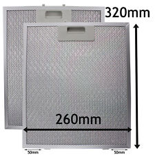2 x UNIVERSAL Cooker Hood Metal Mesh Vent Filter Filters 320 x 260 mm